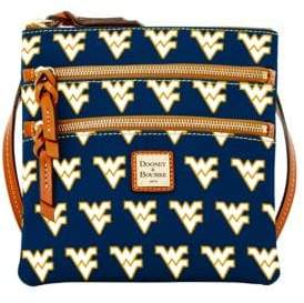 Dooney & Bourke West Virginia Mountaineers Triple Zip Crossbody Bag - NAVY BLUE - STYLE