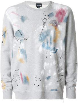 Just Cavalli paint print sweatshirt