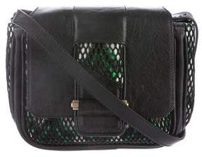 Dannijo Leather-Trimmed Flap Bag