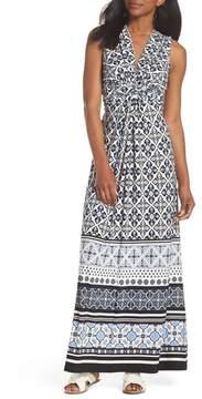 Eliza J Knot Detail Jersey Maxi Dress