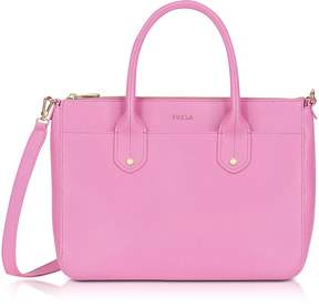 Furla Orchid Saffiano Leather Mediterranea Medium Satchel Bag