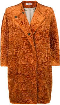 Alberto Biani faux fur cocoon coat