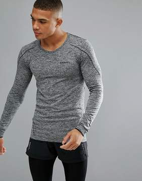 Craft Sportswear Active Comfort Running Knitted Long Sleeve Top In Gray 1903716-9999
