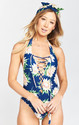 La Jolla Lace Up One Piece Now with Adjustable Neck! ~ Sunflower Dreams