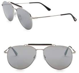 Tom Ford 60MM Sean Spall Aviator Sunglasses