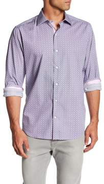 Tailorbyrd Long Sleeve Print Classic Fit Woven Shirt