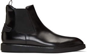 Prada Black Leather Chelsea Boots