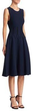 Carolina Herrera Knit Piped Dress