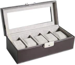 Royce Leather Luxury 5 Slot Watch Box Display Case