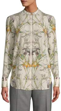 Alexander McQueen Women's Silk Floral Blouse