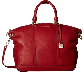 MICHAEL Michael Kors Beckett Large Top Zip Satchel Satchel Handbags - ACORN - STYLE
