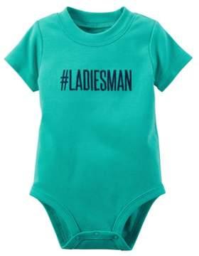 Carter's Baby Girls Ladies Man Bodysuit Green