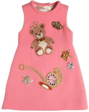 Dolce & Gabbana Embellished Wool Crepe Dress