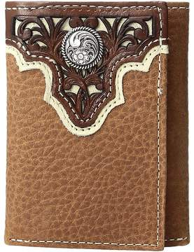 Ariat Ivory Overlay Concho Trifold Wallet Wallet