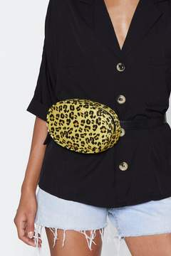 Nasty Gal WANT Prey We Meet Again Leopard Belt Bag