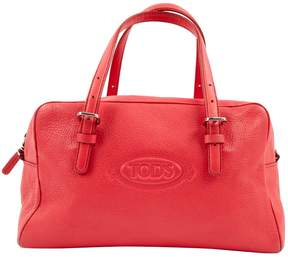 Tod's Pink Leather Handbag