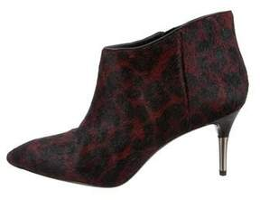 Brian Atwood Leopard Ponyhair Booties