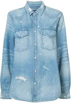 Amiri western paint denim shirt