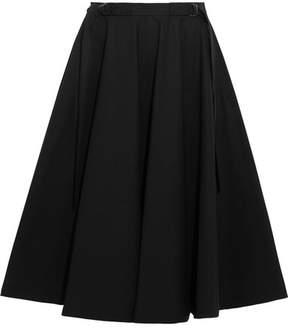 Bottega Veneta Stretch-cotton Poplin Midi Skirt - Black