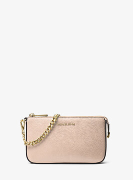 Michael Kors Jet Set Leather Chain Wallet - PINK - STYLE