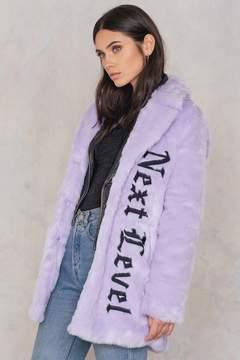 NA-KD Na Kd Faux Fur Embroidery Coat