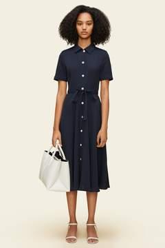 Mansur Gavriel Silk Short Sleeve Shirt Dress