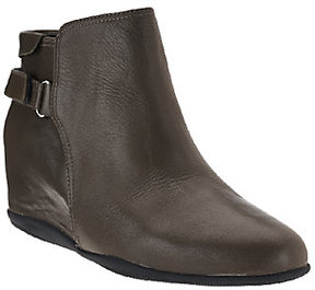 Me Too Leather Wedge Ankle Boots - Harp