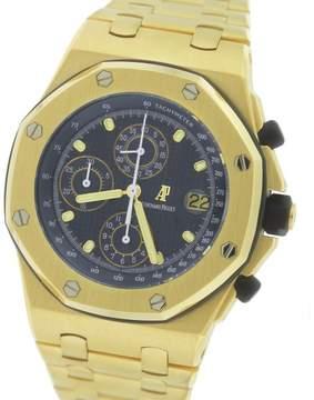 Audemars Piguet Royal Oak 25721BA.OO.1000BA.02.A 18K Yellow Gold with Navy Blue Dial 42mm Mens Watch