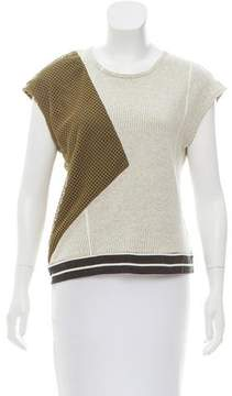 Timo Weiland Lace-Paneled Short Sleeve Top