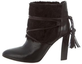 Ralph Lauren Shearling-Trimmed Ankle Boots
