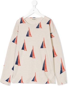 Bobo Choses sail boat pattern T-shirt