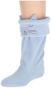 Joules Kids Smile Fleece Welly Sock Girls Shoes
