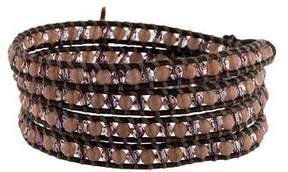 Chan Luu Rose Quartz & Crystal Bead Wrap Bracelet