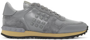 Valentino Grey Garavani Rockstud Sneakers