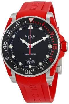 Gucci Dive Black Dial Men's Watch