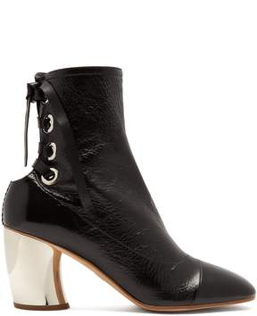 Proenza Schouler Curved-heel lace-up leather ankle boots