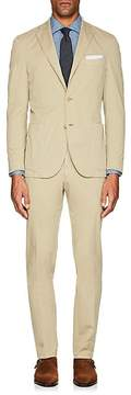 Boglioli Men's Stretch-Cotton Micro-Twill Three-Button Suit