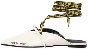 Off-White 10mm For Walking Leather Lace-Up Mules