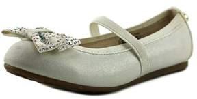 Stuart Weitzman Fannie Jewel Strap Round Toe Synthetic Flats.