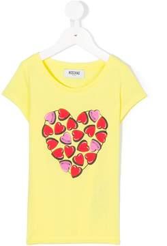 Moschino Kids heart print T-shirt