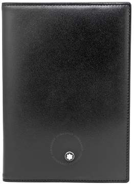 Montblanc Meisterstuck International Passport Holder in Glossy Black Leather