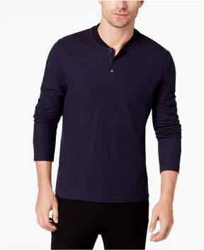 Alfani Men's Baseball Collar Shirt, Created for Macy's