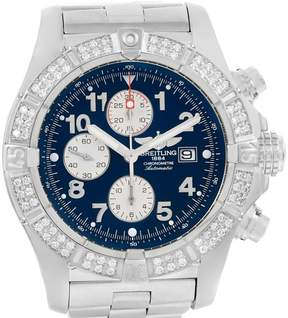 Breitling Aeromarine Super Avenger A13370 Stainless Steel wDiamond Automatic 48.4mm Mens Watch