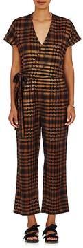 Ace&Jig Women's Wrap Metallic Cotton-Blend Jumpsuit