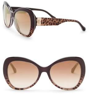 Roberto Cavalli 55mm Oversized Sunglasses