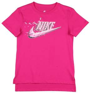 Nike Big Girls' (7-16) Squared Swoosh T-Shirt-Active Pink