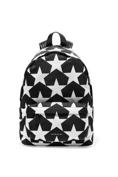 Givenchy Leather-trimmed Printed Shell Backpack - Black