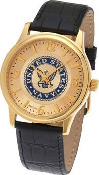 Bulova Men's US Navy USN Gold Plated US Armed Forces Military Watch