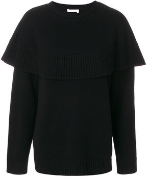 Chloé cashmere cape knitted sweater