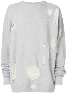 Paura distressed slouched sweatshirt